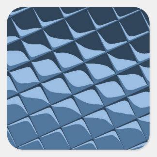 Azulejos plásticos azuis adesivo em forma quadrada