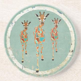 Azure & Amber Giraffes Coaster