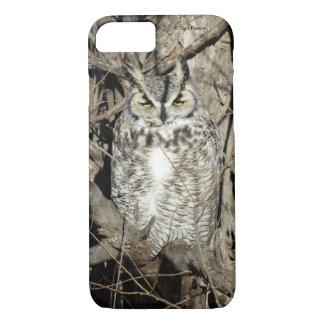 B0051 grande coruja Horned Iphone 8/7 de capa de