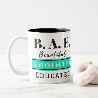 B.A.E. Caneca educada Anointed bonita do Aqua