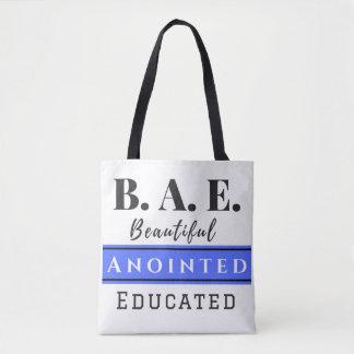B.A.E. O bolsa azul educado Anointed bonito do
