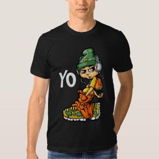 B boy and mp3 t-shirt