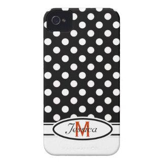 B & caixa corajosa de Blackberry do monograma das Capa Para iPhone