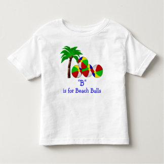 B é para as bolas de praia que soletram o t-shirt camiseta infantil