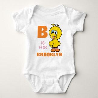 B é para o pássaro grande body para bebê