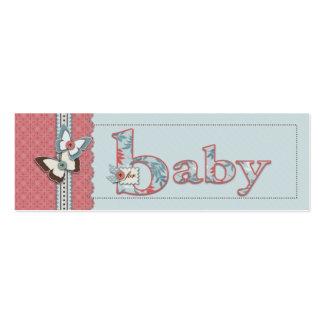 B é para o Tag magro do presente do bebê Cartão De Visita Skinny