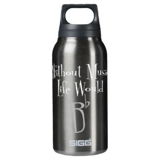 B garrafa quente & fria de Sigg escuro liso