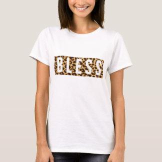 B L impressão do leopardo de E S S Camiseta