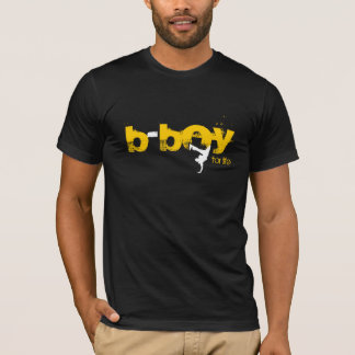 b-menino para a vida (branco, amarelo) camiseta