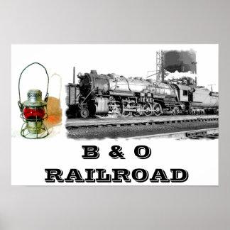 B & poster da estrada de ferro de O