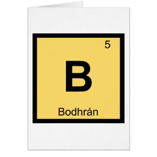 B - Símbolo da mesa periódica da química da música Cartão Comemorativo