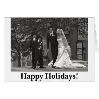 b&w 0229, boas festas! cartão