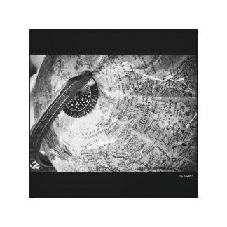 B&w da fotografia das canvas do xildxhild do mapa