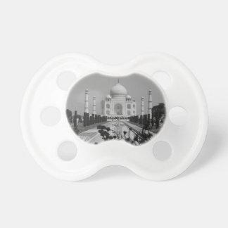 B&W Taj Mahal 2 Chupeta Para Bebê