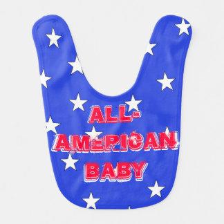 Babador América EUA patrióticos todos bebê americano