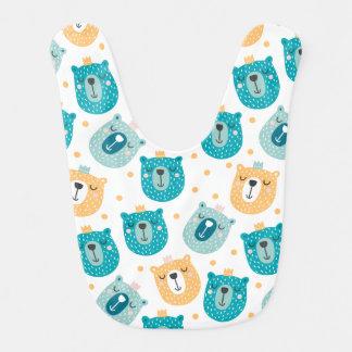 Babador animal do bebê dos desenhos animados