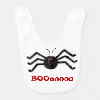 Babador Aranha infantil BOOooooo o Dia das Bruxas do preto