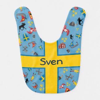 Babador Artigos suecos da cultura com bandeira