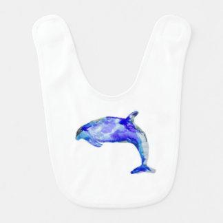 Babador azul do bebê do golfinho