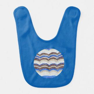 Babador azul do bebê do mosaico
