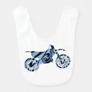 Babador azul psicadélico da bicicleta da sujeira
