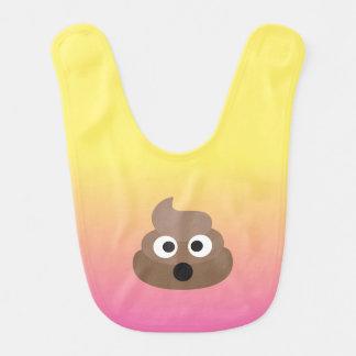Babador Bebê de Ombre Emoji Poo