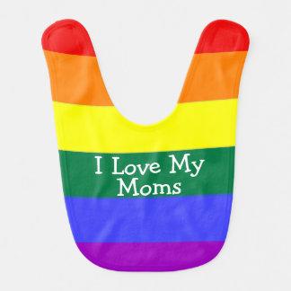 Babador Bebê do orgulho eu amo minhas mães