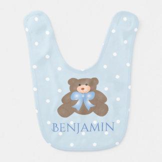 Babador Bebé doce Pastel bonito do urso de ursinho da fita