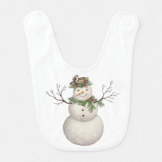 Babador boneco de neve moderno do wintergarden do vintage
