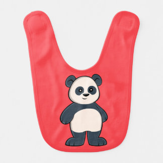Babador bonito do bebê da panda dos desenhos
