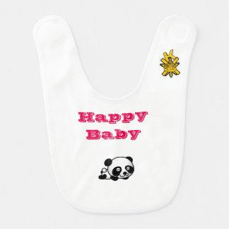 Babador bonito do bebê da panda e do pinguim