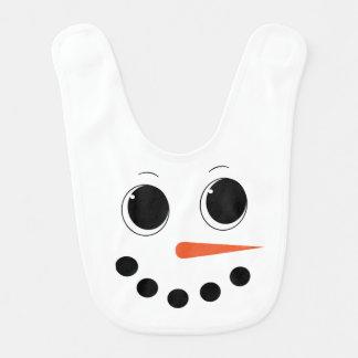 Babador bonito do bebê do boneco de neve do