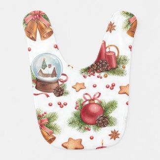 Babador bonito do bebê do Natal