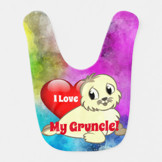 "Babador Bonito ""eu amo meu Gruncle!"" com selo de bebê"