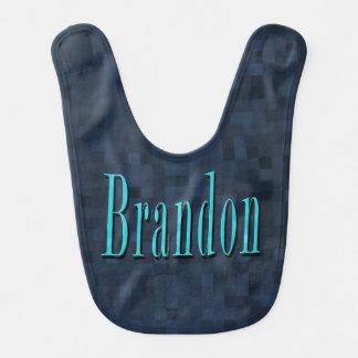 Babador Brandon, bebés azuis do logotipo do nome azuis