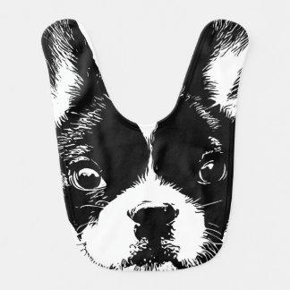 Babador Cara bonito do cão do buldogue francês