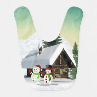 Babador Cena do boneco de neve do Natal