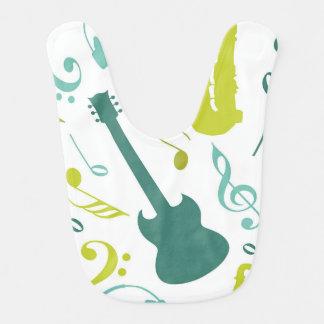 Babador Cerceta & design verde da música jazz