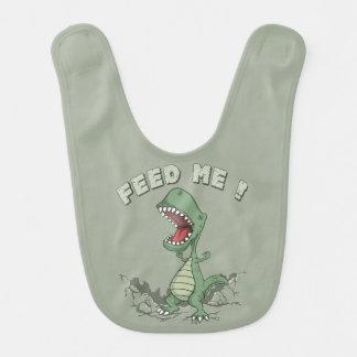 Babador com fome do bebê do dinossauro