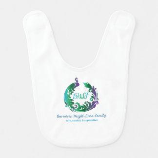 Babador completo do bebê do logotipo da família de