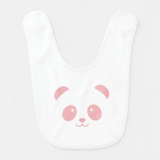 Babador cor-de-rosa bonito e peluches do bebê da
