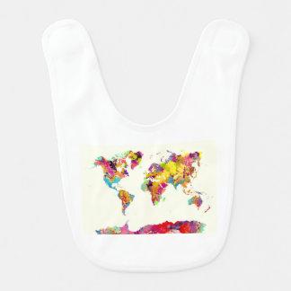 Babador cores do mapa do mundo
