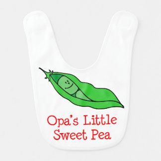 Babador da ervilha doce de Opa pouco