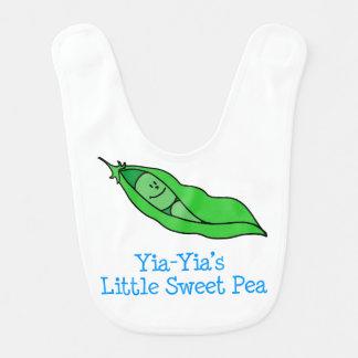 Babador da ervilha doce de Yia-Yia pouco