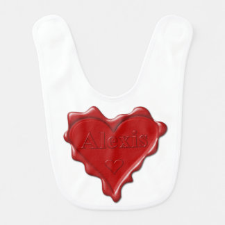 Babador De Bebe Alexis. Selo vermelho da cera do coração com