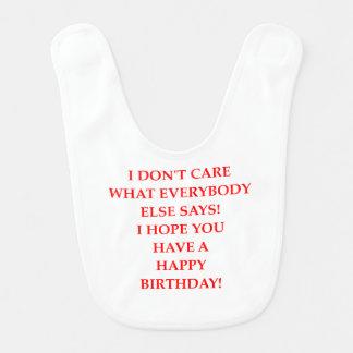 Babador De Bebe aniversário