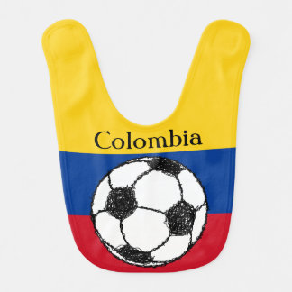 Babador De Bebe Bandeira colombiana com futebol