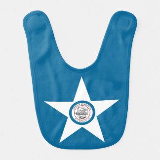 Babador De Bebe Bandeira da cidade de Houston, Texas