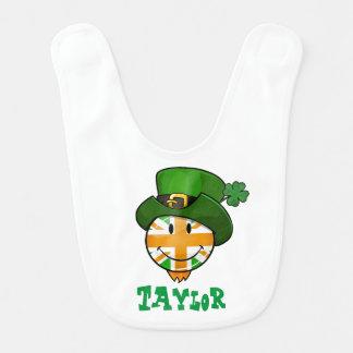 Babador De Bebe Bandeira de sorriso de Union Jack do irlandês em