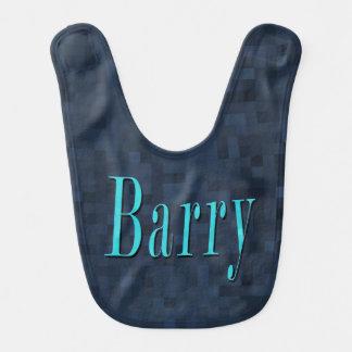 Babador De Bebe Barry, nome, logotipo azul, bebés azuis